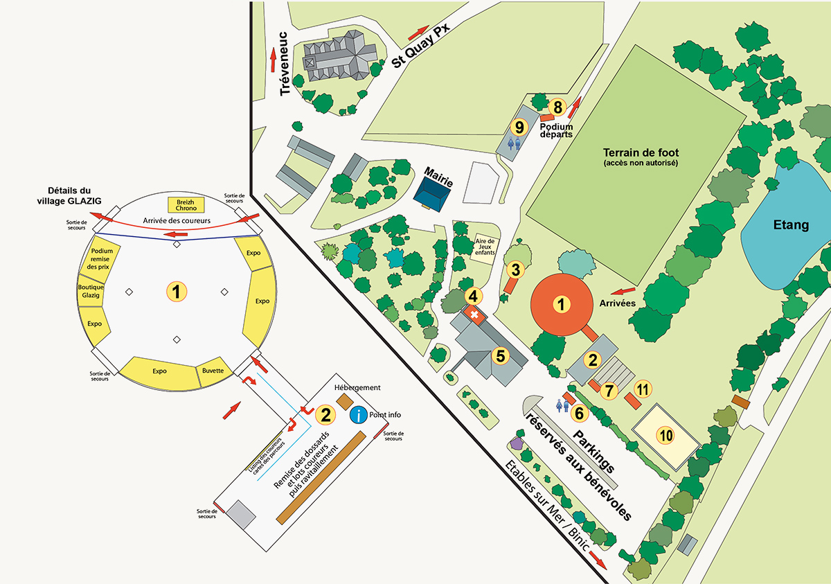 Plan Village Glazig 2018