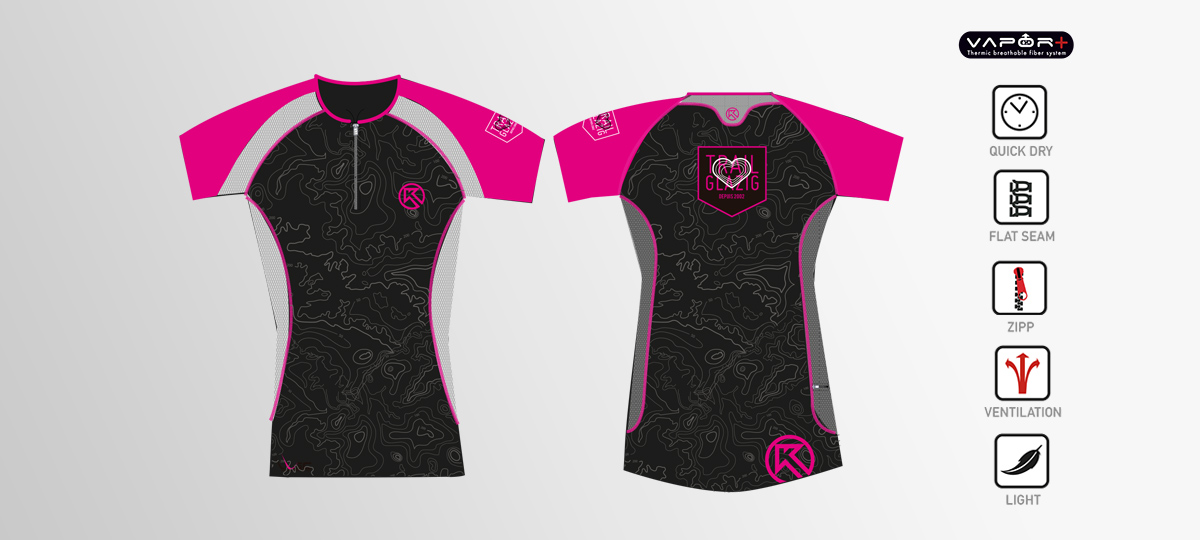 Tshirt Femme running Trail Glazig par Kinetik