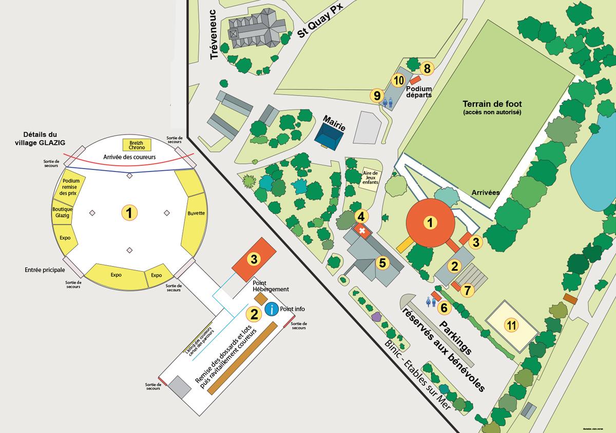 Plan Village Glazig 2020